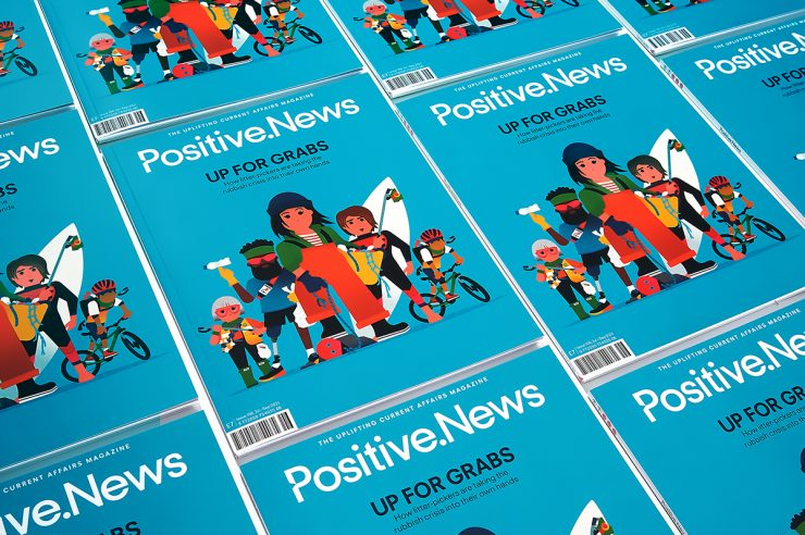 Image for Bags of satisfaction: new issue of Positive News is packed with inspiring summer reads