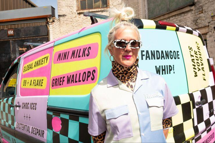 Image for The artist touring the UK in an ice-cream van, to talk about grief