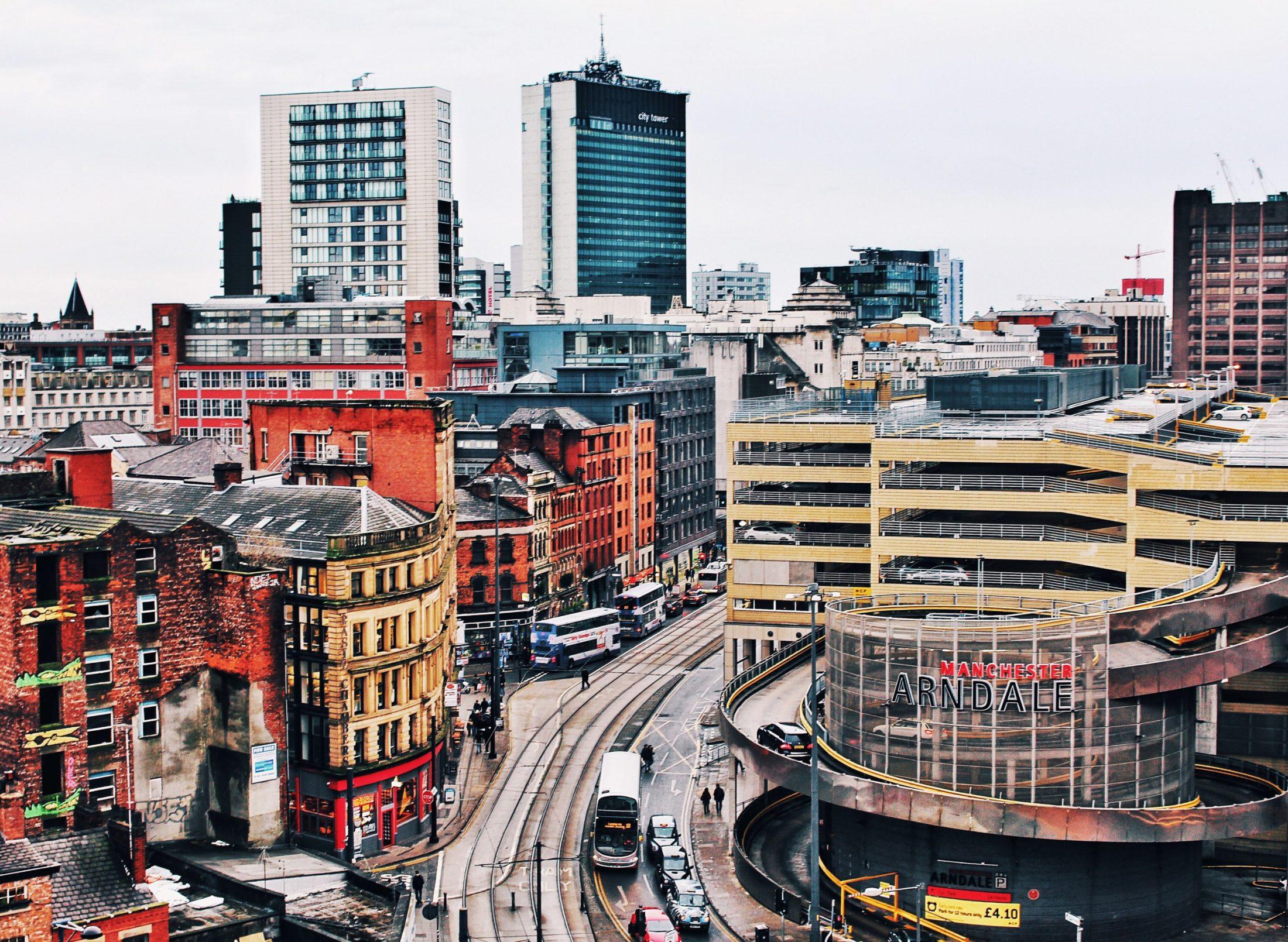 An urban scene in Manchester