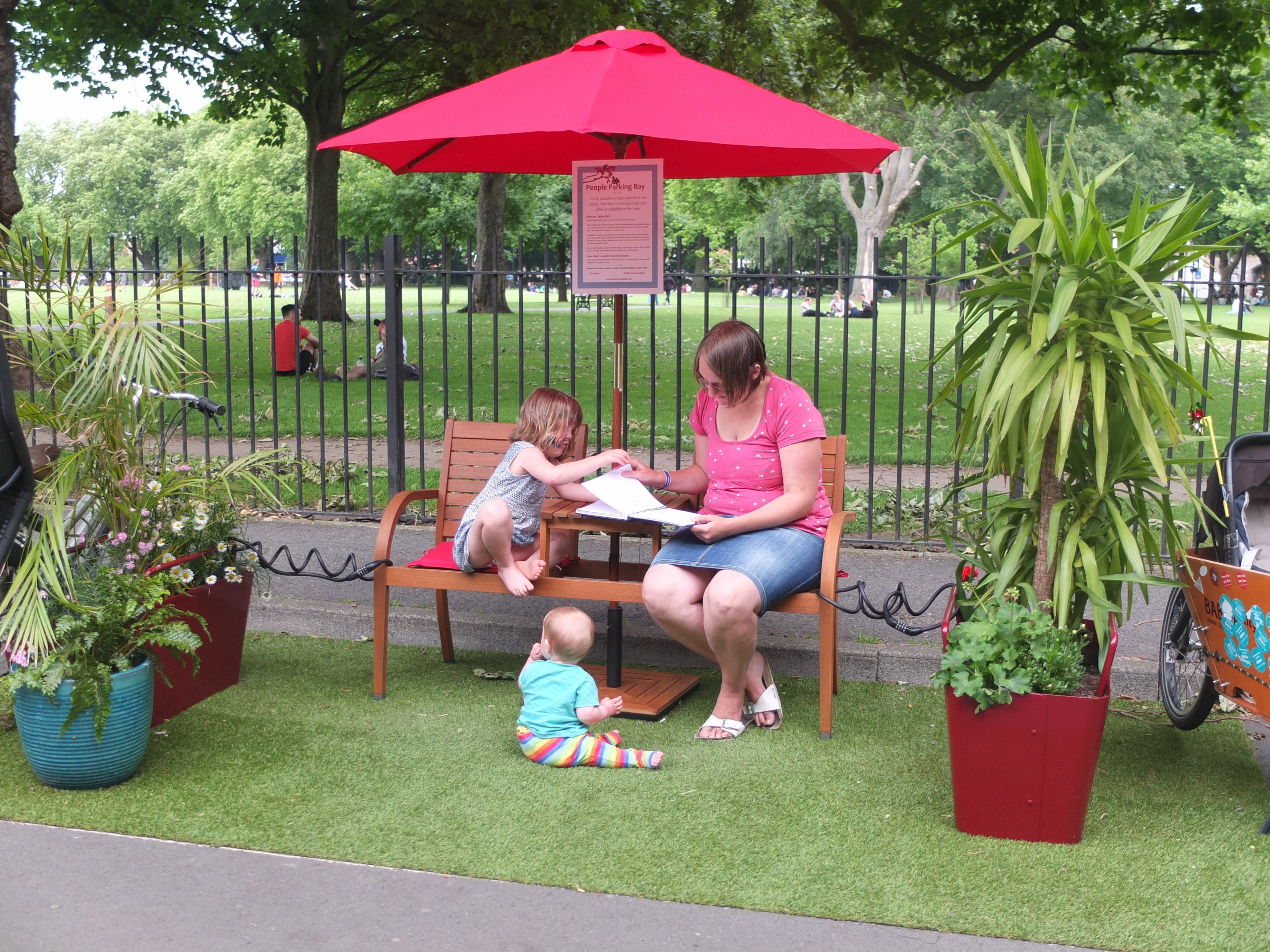 Party in the park: campaign urges people to reimagine parking spaces