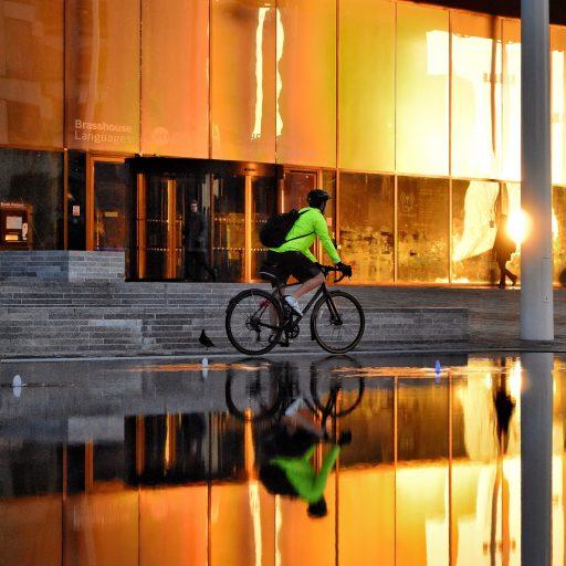 Cyclist in Birmingham