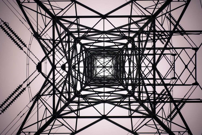 An electricity pylon in Sheffield